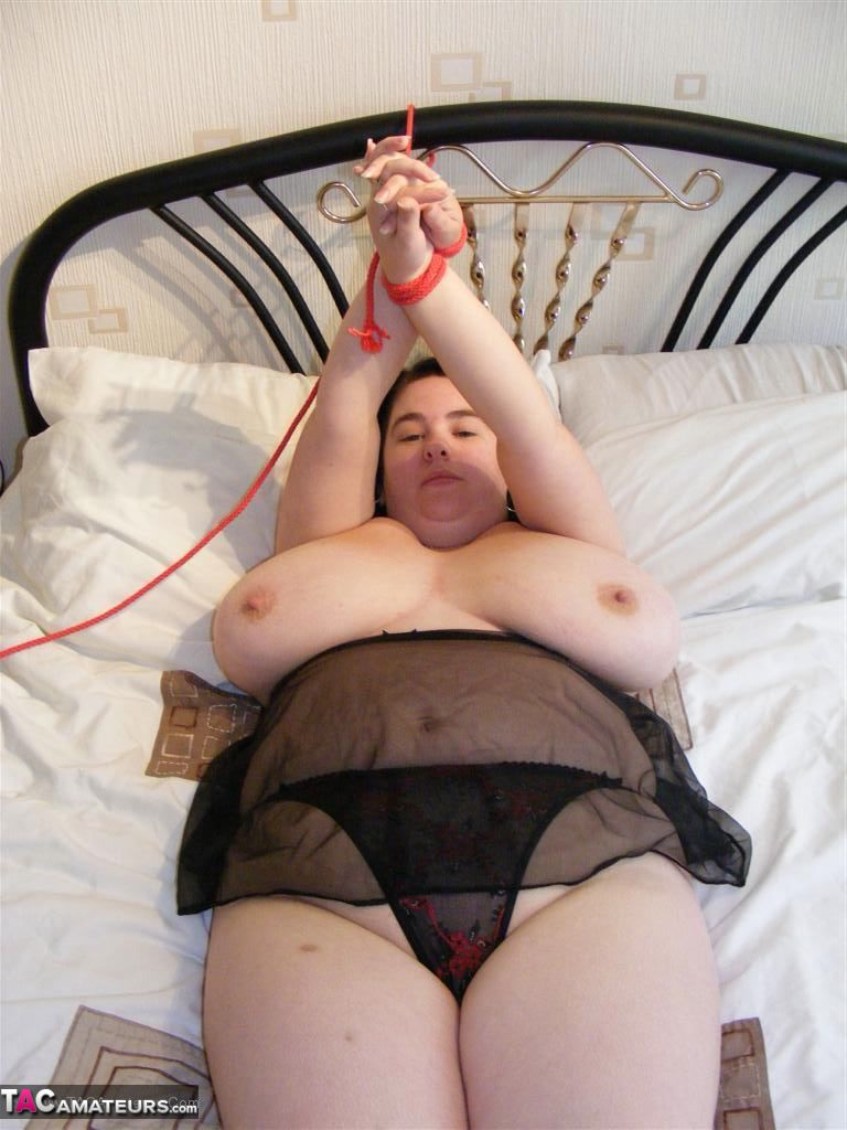 Bbw tied to bed
