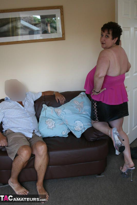 Middle-aged amateur has her man strip her naked before they fuck  2145654
