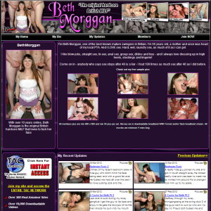 With over 10 years online, Beth Morggan is the original British hardcore MILF that loves to fuck her fans