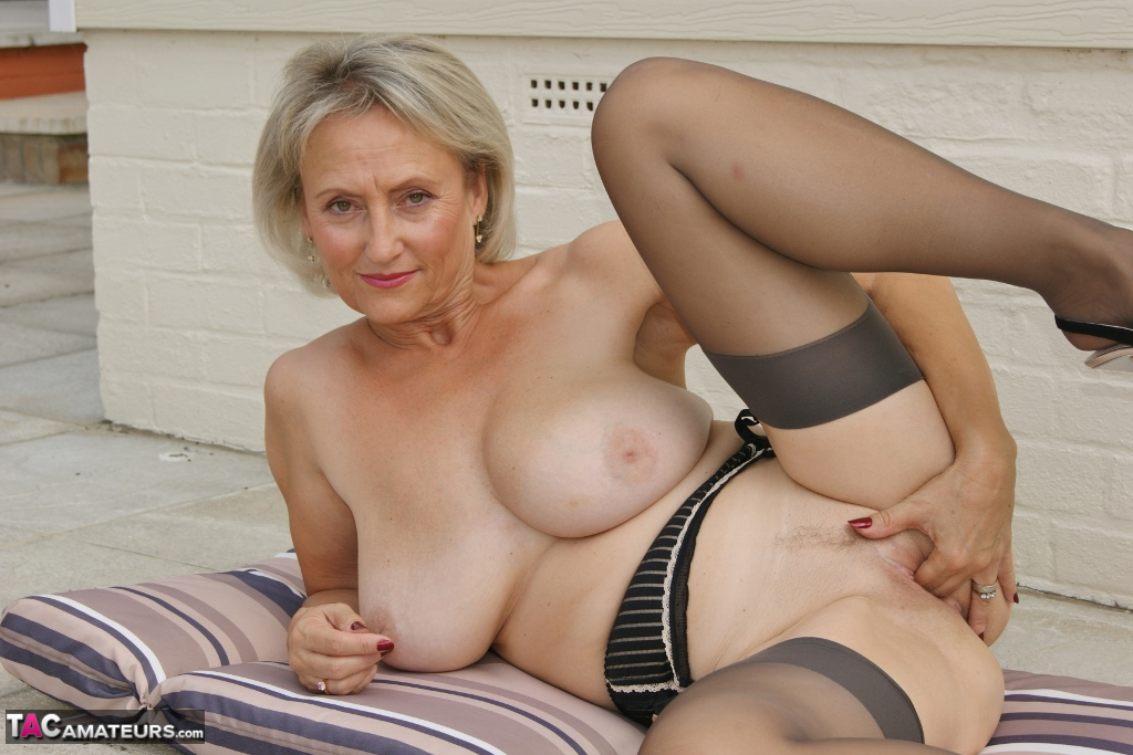 2 british matures in stockings play 7