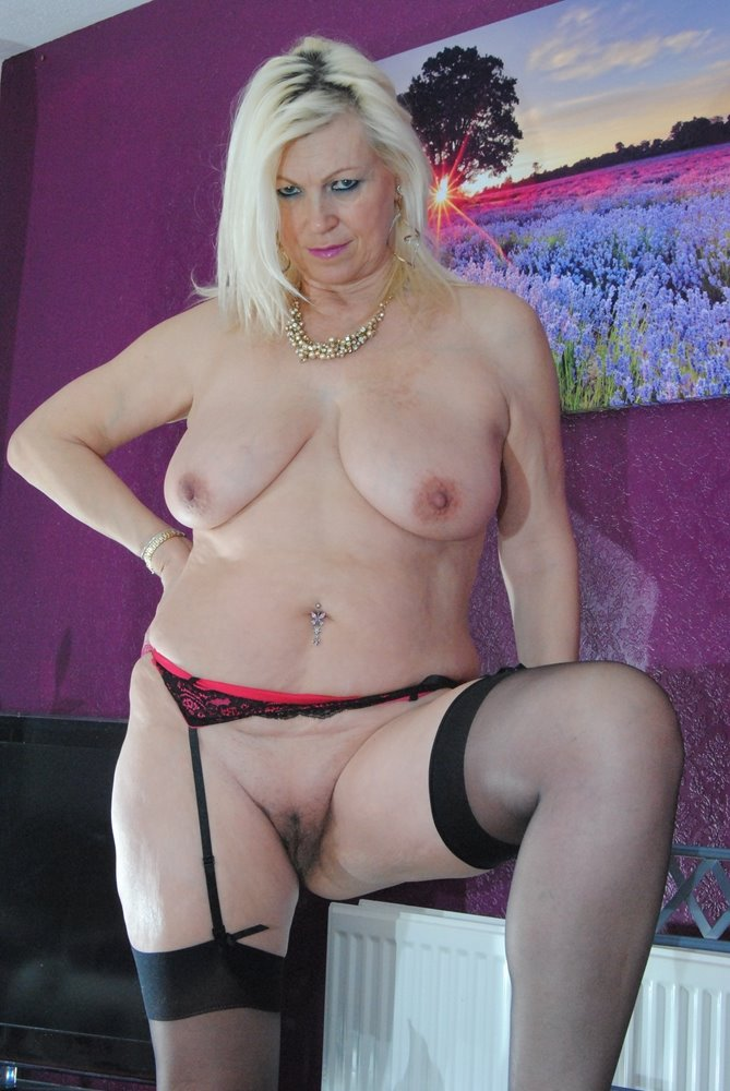 Hot blond with dd tits
