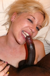 The best in amateur interracial action. Dont miss this sexy blonde French MILF with a huge lust for big black cocks.