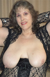 Bunny Gram - Bunny Gram is a hot BBW granny with fantastic 44D tits. This delicious kinky housewife is ready to dominate her pantie boys