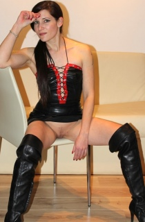 Charly is a 30 year old German student and pornstar with a slim delicate body that she just loves to show off