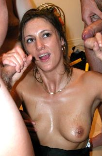Juicy Jo - The official British Gangbang Queen. Jo  holds regular parties for her site members so you too can be giving Juicy your load