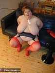 Chris44G. Red Waspie & Stockings 2 Free Pic