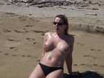 SandysPalace. Naked on the Beach Free Pic