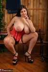 DeniseDavies. Little Red Corset Free Pic