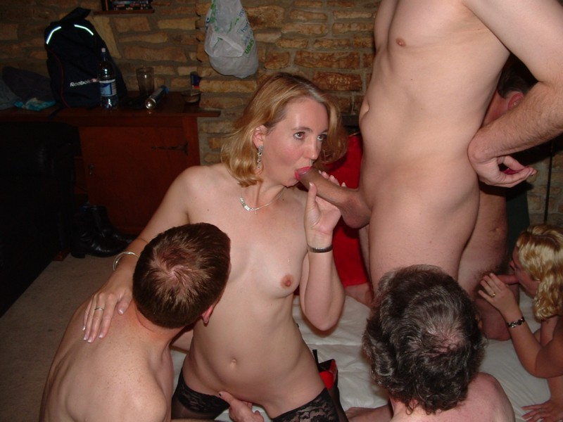 Filthy mature slut hungry for two young cocks 7