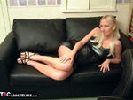TraceyLain. Sexy Pregnant Blonde in a Cocktail Dress Free Pic