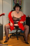 Chris44G. Black Silk Stockings & Suspenders Free Pic 5