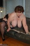 Chris 44G. Black Silk Stockings & Suspenders Free Pic 17