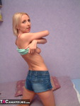 TraceyLain. Tightest Denim Shorts Free Pic