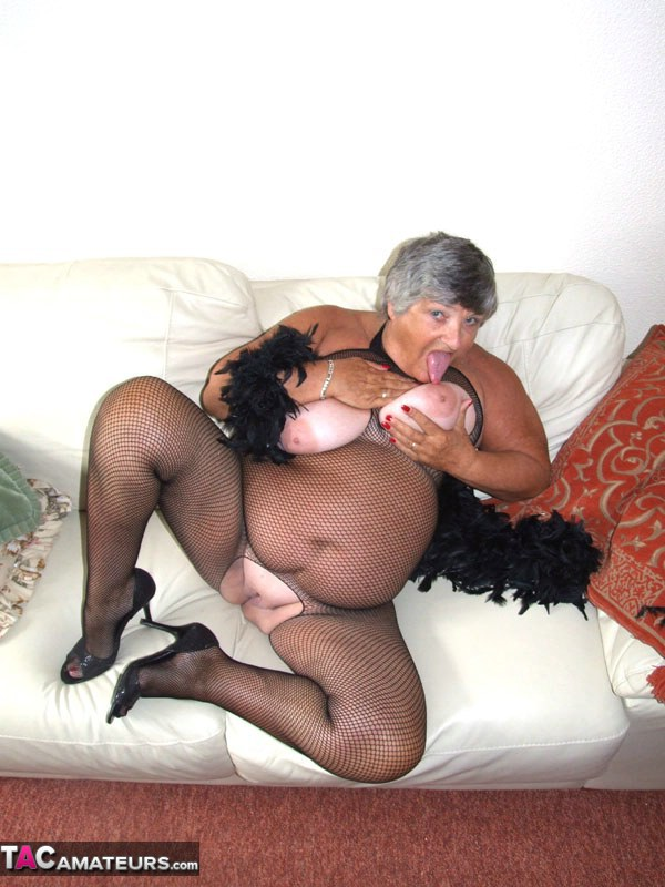 Randy Granny Gets Oiled Up For Masturbation
