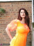 AngelEyes. Orange Velvet Dress Free Pic 2