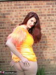AngelEyes. Orange Velvet Dress Free Pic