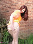 AngelEyes. Orange Velvet Dress Free Pic 7