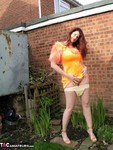 AngelEyes. Orange Velvet Dress Free Pic 19