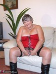 GrandmaLibby. Red PVC Basque Free Pic 1