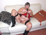 GrandmaLibby. Red PVC Basque Free Pic 10