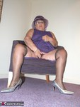 GrandmaLibby. Purple Dress Free Pic 2