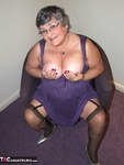 GrandmaLibby. Purple Dress Free Pic 3