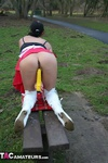 Foxielady. Horny Outdoor Toy Fun Free Pic 5