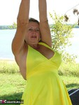 Adonna. Buxom & Bold in the Outdoors Free Pic 3