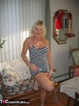 Ruth. Stripey Dress Free Pic