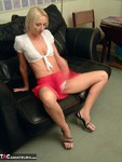 TraceyLain. Blonde In Red Free Pic