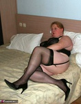 MaddyBBW. Black Basque & Seamed Stockings Free Pic 1