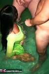 Foxie Lady. Sucking Cocks In The Hot Tub Free Pic 8