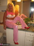 Ruth. Shiny Pink Trousers Free Pic 4