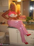 Ruth. Shiny Pink Trousers Free Pic 8