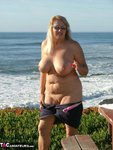 Adonna. Stripping At The Beach Free Pic 8