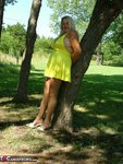 Adonna. Hot Yellow Dress Free Pic 3