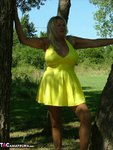 Adonna. Hot Yellow Dress Free Pic 4