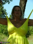 Adonna. Hot Yellow Dress Free Pic 5