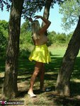 Adonna. Hot Yellow Dress Free Pic 8