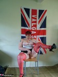 ValgasmicExposed. Spotty Basque and Stockings Free Pic 9