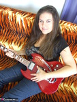 DeniseDavies. Electric Guitar Striptease Free Pic 1