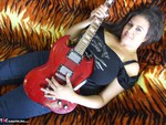 DeniseDavies. Electric Guitar Striptease Free Pic 4