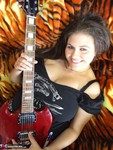 DeniseDavies. Electric Guitar Striptease Free Pic 5