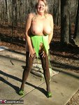 Adonna. Green Dress Free Pic 15