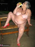 GrandmaLibby. Naked Picnic In The Park Free Pic 7