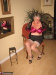 GirdleGoddess. Sheer Stockings & Satin Red Bra Free Pic 11