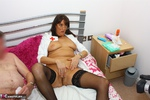 JuicyJo. Nurse JuicyJo treats her two patients 2 Free Pic 15