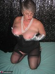 GirdleGoddess. Long Silver Gloves Free Pic 7
