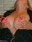 Adonna. Satin PJ's & Nipple Clamps Free Pic