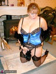 CurvyClaire. Blue Basque Free Pic